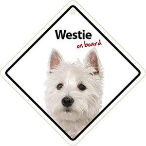 Magnet & Steel Westie On Board Sign 1pc