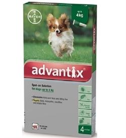 Advantix For Dogs Below 4Kilo 4pipettes