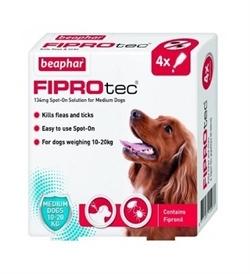 Beaphar Fiprotec Spot-On For Medium Dogs 4 vials