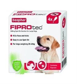 Beaphar Fiprotec Spot-On For Large Dogs 4 vials