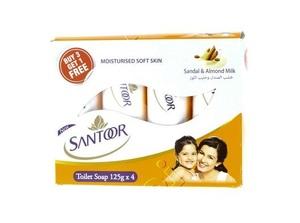 Santoor Soap White 4x125g