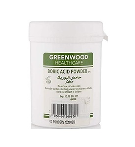 Green Wood Boric Acid Powder Bottle 100g