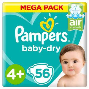 Pampers Mega Pack S4+ 56pcs