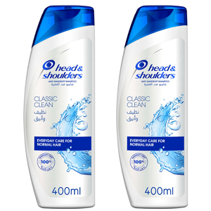 Head & Shoulders Classic Clean Anti-Dandruff Shampoo Dual Pack 2x400ml