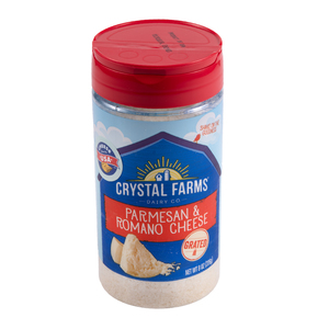 Crystal Farms Grated Parmesan And Romano 227g
