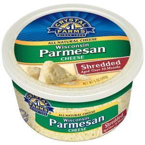 Crystal Farms Shredded Wisconsin Parmesan 5oz