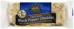 Crystal Farms Bar Black Pepper Cheddar 8oz