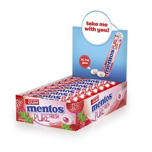 Mentos Pure Fresh Gum Candy Strawberry Flavour 1 Box