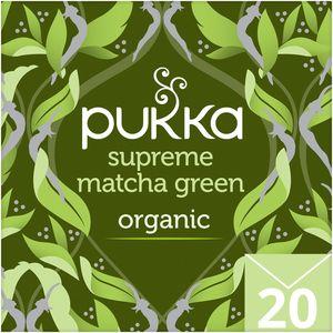 Pukka Supreme Matcha Green Organic Herbal Green Tea With Sencha 20s