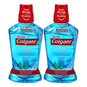 Colgate Plax Peppermint Blue Mouth Wash 2x500ml