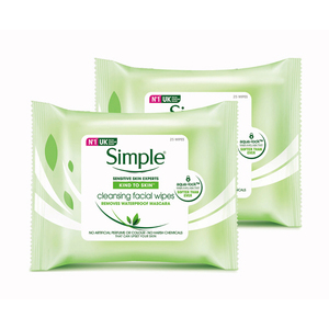Simple Cleansing Facial Wipes 2x25pcs