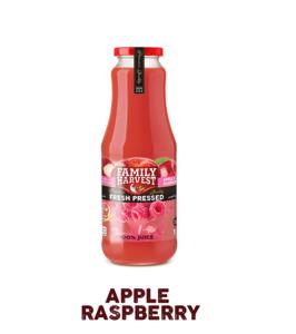 Family Harvest Fresh Apple & Raspberry Juice 1L