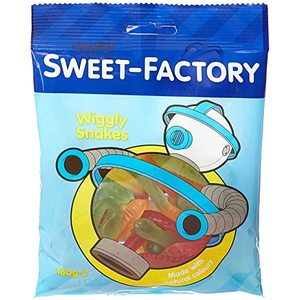 Sweet Factory Wiggly Snakes 160g