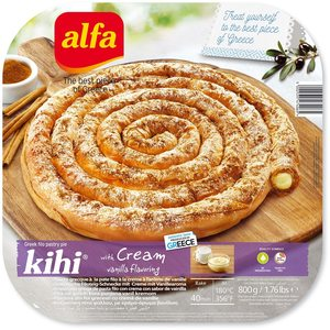 Alfa Bougatsa Pie Vanilla Cream 800g