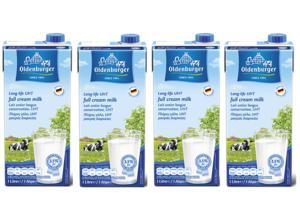 Oldenburger Uht Full Cream Milk 4x1L