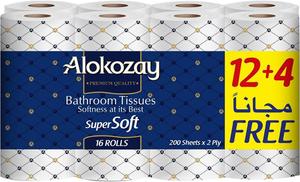 Alokozay Bathroom Tissue 16x200s