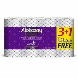 Alokozay Multipurpose Towel 4x100s
