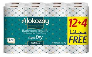 Alokozay Bathroom Tissue 16x160s