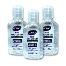Cosmo Hand Sanitizer Gel 3x65ml
