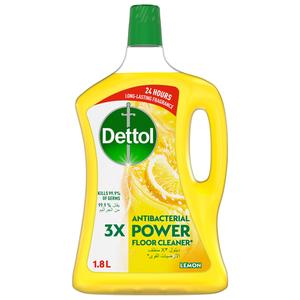 Dettol Lemon Antibacterial Power Floor Cleaner 2x1.8L