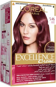L'Oreal Excellence Hair Color Grape Red 1kit