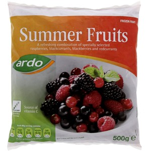 Ardo Frozen Summer Fruits 500g