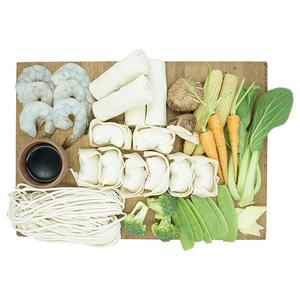 Shanghai Shrimp Noodle With Chicken Wonton & Spring Rolls Kit 1kit