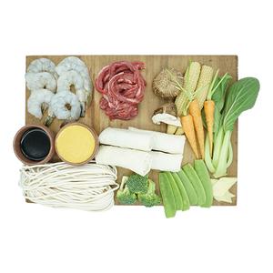 Shanghai Beef Noodle With Lava Rock Shrimps & Spring Rolls Kit 1kit