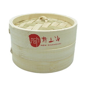 Bamboo Steamers With New Shanghai Logo 15cm