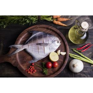 Wild White Pomfret Fresh Cleaned UAE 500g