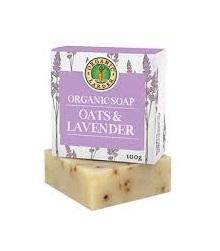 Organic Larder Soap Oats & Lavender 100g