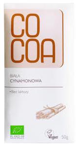 Cocoa White Cinnamon Bar 50g