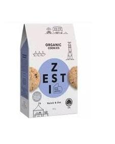 Organic Nation Raisin & Oat Cookies 180g