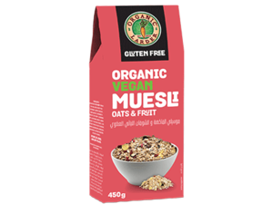Organic Larder Muesli Oats & Fruit 450g
