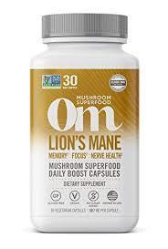 Om Mushroom Lions Mane Mushroom Superfood 90caps