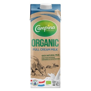 Campina Organic Full Cream Milk 1L