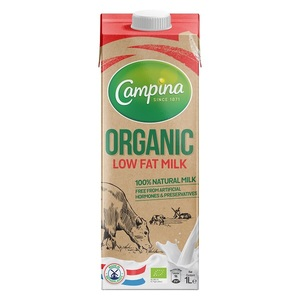 Campina Organic Low Fat Milk 1L
