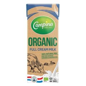 Campina Organic Full Cream Milk 200ml