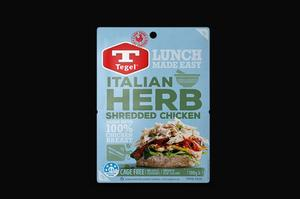 Tegel Italian Herb Shredded Chicken 100g