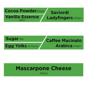 Tiramisu Recipe Box Contents (Serves 6-8 people) 1box