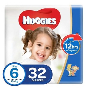 Huggies Ultra Comfort Baby Diapers Size 6 Upto 15 kg 32pcs