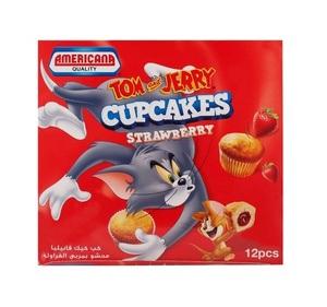 Americana Tom & Jerry Strawberry Cupcake 12x35g