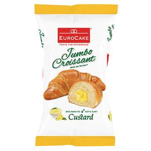 Eurocake Jumbo Croissant Custard 55g
