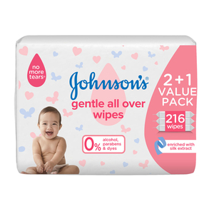 Johnson's Baby Wipes Gentle All Over 72s