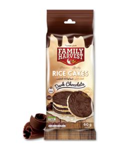 Family Harvest Dark Chocolate Rice Cakes 60g