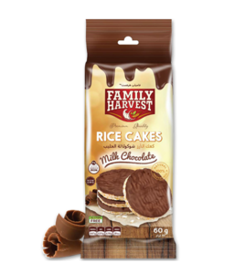 Family Harvest Milk Chocolate Rice Cakes 60g