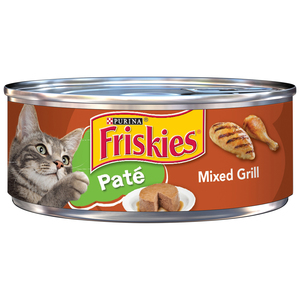 Purina Friskies Pate Wet Cat Food Pate Mixed Grill Can 5.5oz