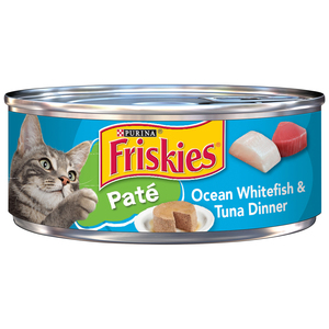 Friskies Shreds With Ocean Whitefish & Tuna In Sauce Wet Cat Food 156g