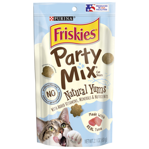 Friskies Party Mix Natural Yums With Real Tuna Cat Treats 60g