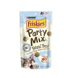Friskies Party Mix Natural Yums Catnip Cat Treats 60g
